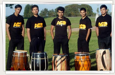 Dhol players at social gatherings